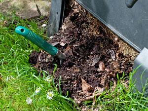 Kompost entnehmen