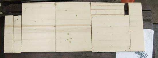 Holz für Vogelfutterhaus
