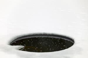 Eisfreihalter Und Teichheizung Eisfreier Teich Im Winter