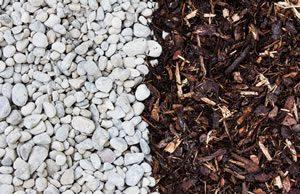 Mulch im Garten