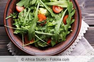 Rukola als Salat