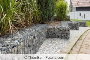 Zaun aus Steinen