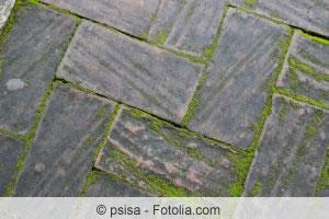 Favorit Terrassenplatten reinigen - Moos und Algen von Terrasse entfernen CW87