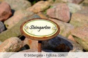 Steingarten Schild