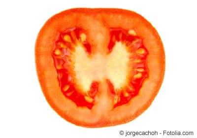 Tomate mit Samen