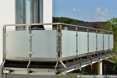 Windschutz Terrasse Glas