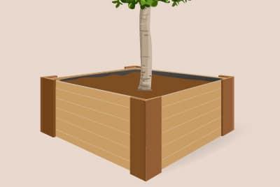 Quadratische Pflanzkübel