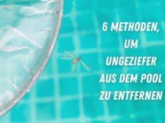 Maden aus dem Pool entfernen