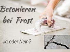 Betonieren bei Frost