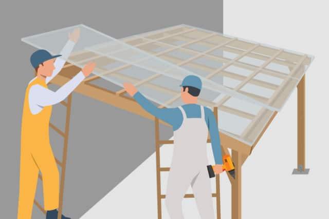Terrassenüberdachung bauen