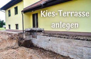 Kies-Terrasse anlegen