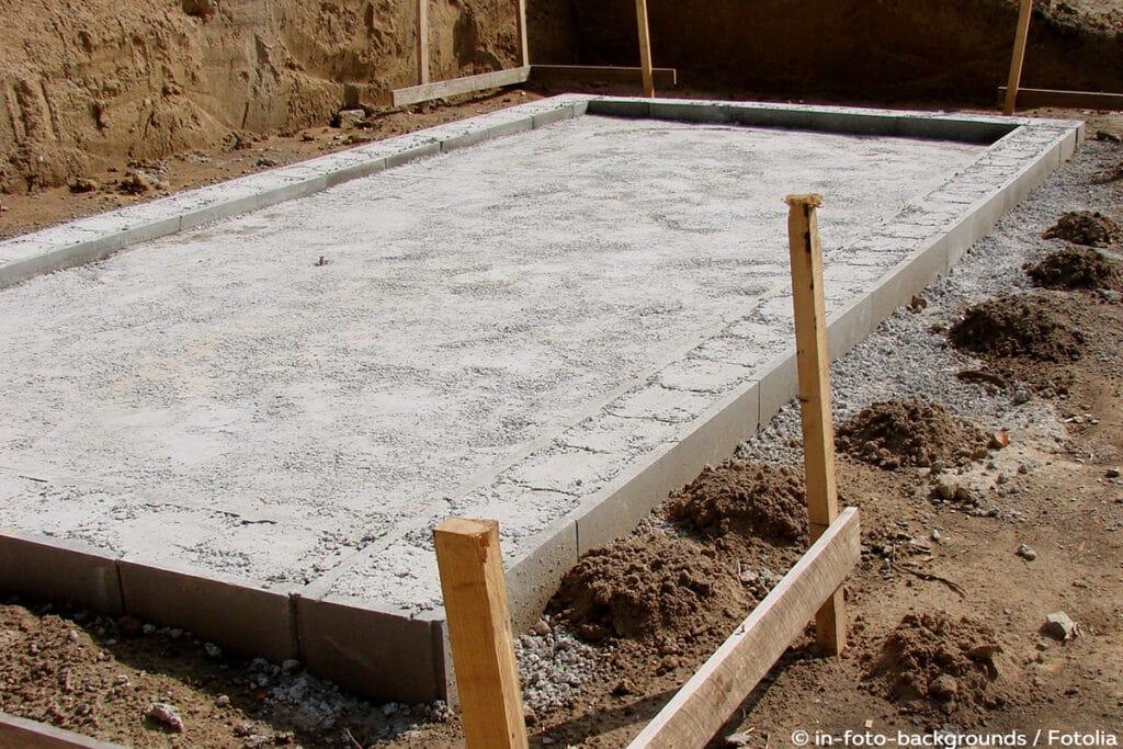 Fundament, Bodenplatte, Gartenhaus bauen