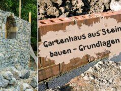 Gartenhaus aus Stein bauen