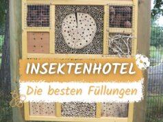 Insektenhotel mit Füllmaterial