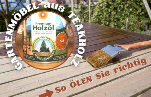 Teakholz-Gartenmöbel ölen