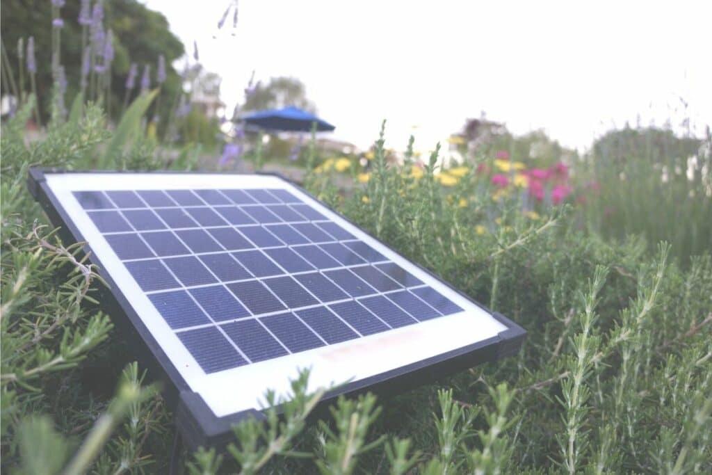 Solarpanel im Garten
