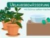 Urlaubsbewässerung mit Schnur selber machen