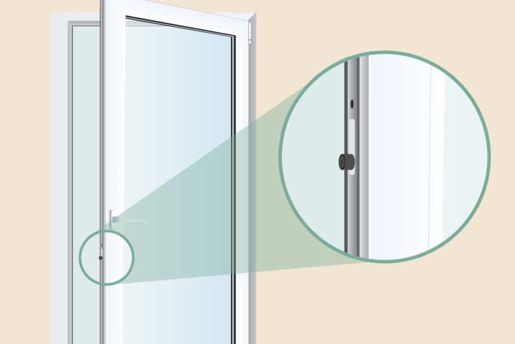 Anpressdruck für Balkontür einstellen - Schließzapfen lokalisieren
