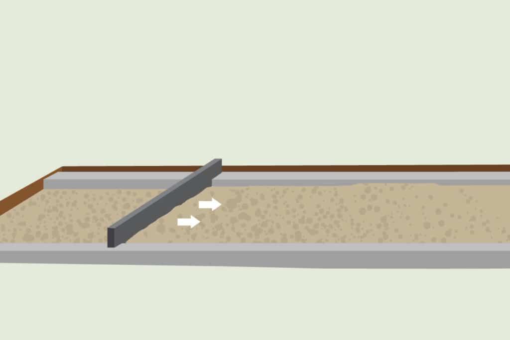 Terrassenaufbau Bettungsschicht
