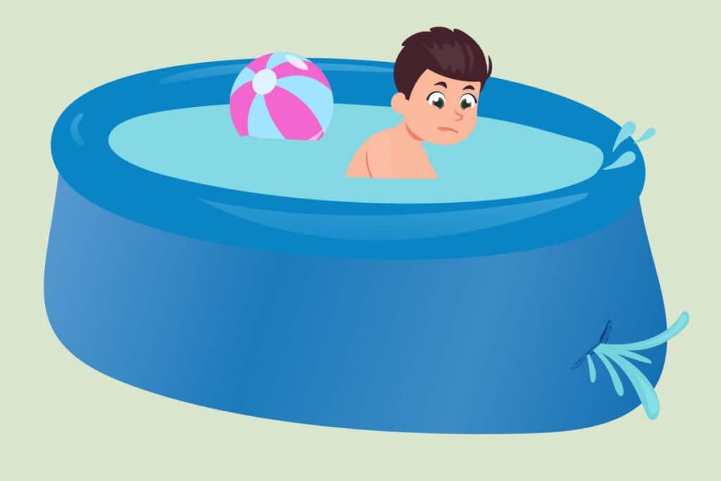 Pool am Hang aufstellen - Gefahren bei Gefälle