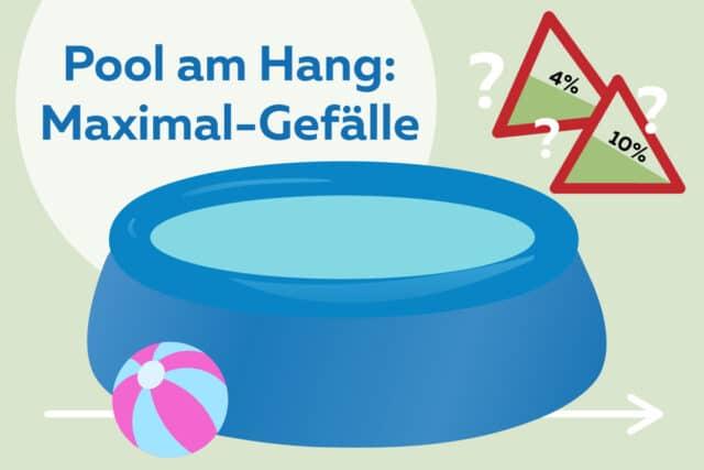Pool am Hang aufstellen - Maximales Gefälle
