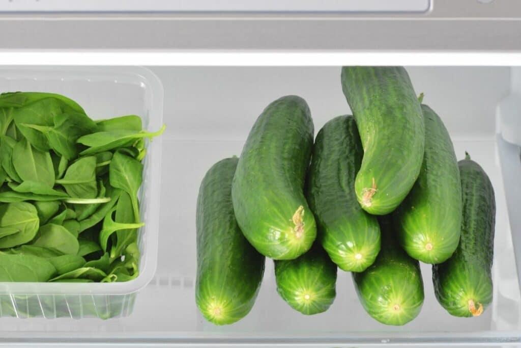 Gurken im Kühlschrank lagern