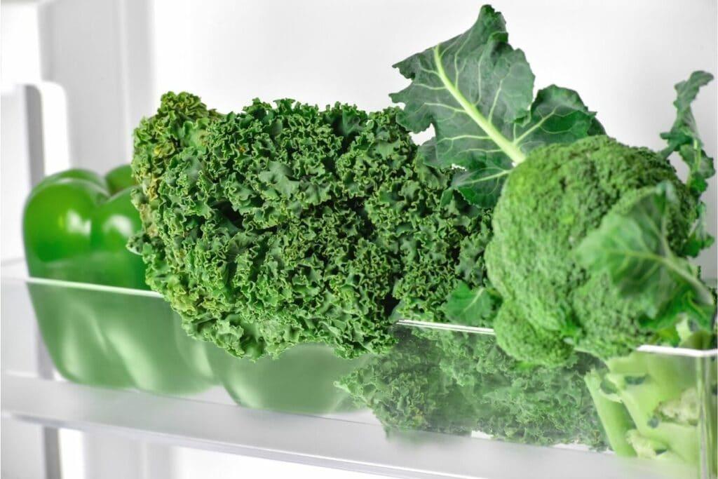 Grünkohl im Kühlschrank